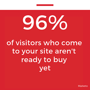 96 of visitors who come to your site aren't ready to buy yet