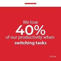 We lose 40 of productivity when switching task