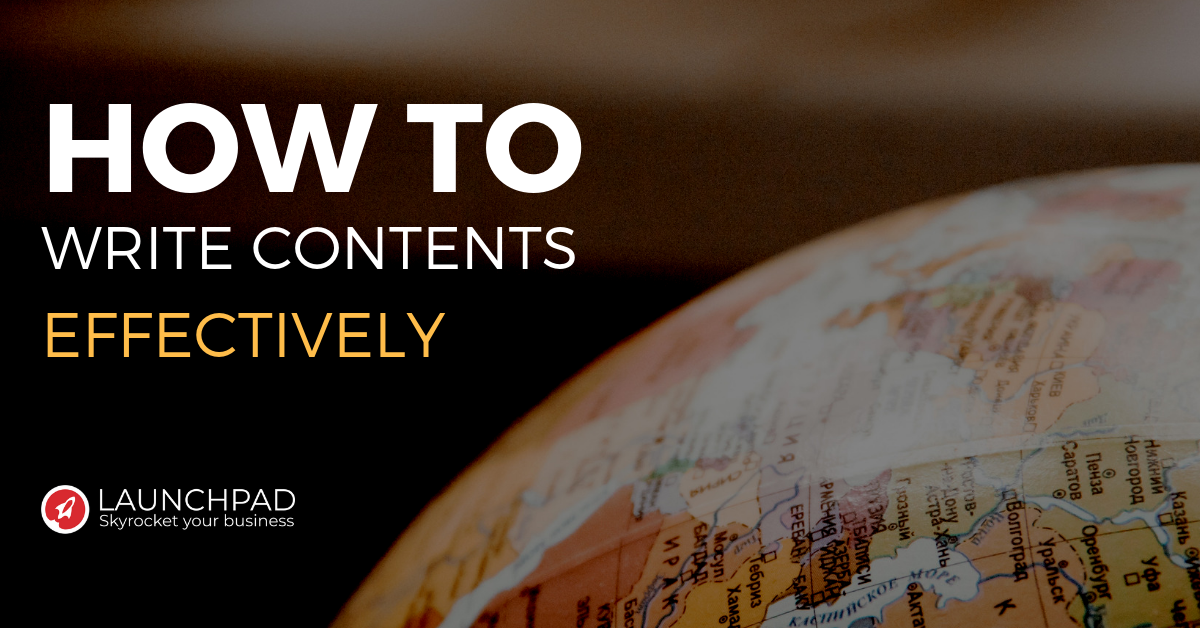 How to write contents effectively