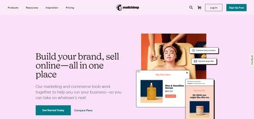 Mailchimp-landing page-build your brand