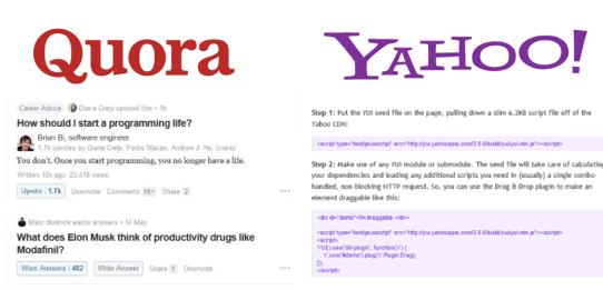 Q&A Websites, Quora vs Yahoo