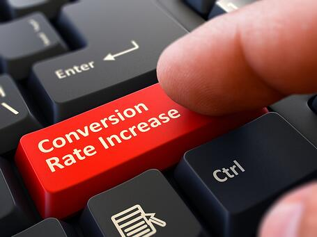 Conversion rate increase in website traffic